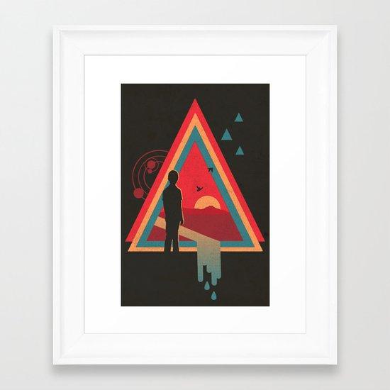 Stare into the Sun Framed Art Print