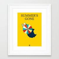 Suumer's gone Framed Art Print
