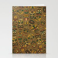 Tiki Masks Stationery Cards