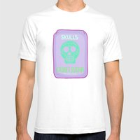 Sugar Skulls 2 Mens Fitted Tee White SMALL