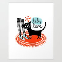 Kitty Love Art Print