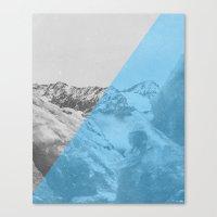 NEON NATURE | Blue Canvas Print