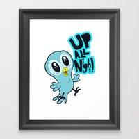 Up All Night!  Framed Art Print