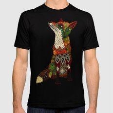 fox love juniper SMALL Mens Fitted Tee Black