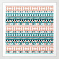 Tribal Triangle Art Print