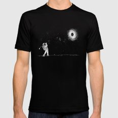 Black Hole in One Mens Fitted Tee Black SMALL