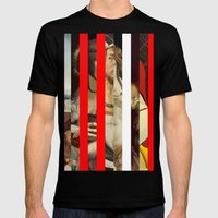 Stars in stripes 5 + Mens Fitted Tee Black SMALL