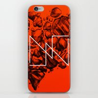 Old School Rocks (Orange Rock Version) iPhone & iPod Skin