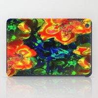 Neon Flowers iPad Case
