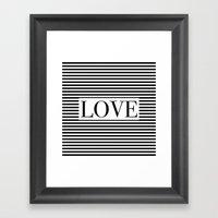 Monochromatic Love Framed Art Print