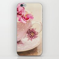 Flower storm in a teacup iPhone & iPod Skin