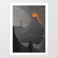 lord of the rings Art Prints featuring Lord Of The Rings by ketizoloto