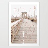 New York Romantic Typogr… Art Print