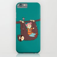 iPhone & iPod Case featuring Sloth Swing by Polite Yet Peculiar