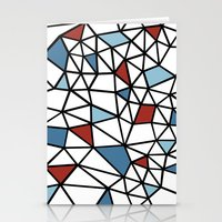 Segment Red and Blue Stationery Cards