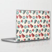 happy birthday Laptop & iPad Skins featuring happy birthday  by marella