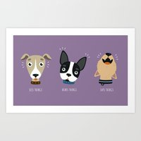 Three wise dogs Art Print