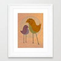 Two Birds, So Stoned Framed Art Print
