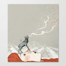 Deer Lady! Canvas Print