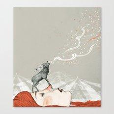 Deer Lady! Canvas Print