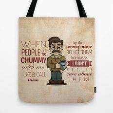 Ron Swanson 6 Tote Bag