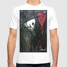 Dark Romantic White SMALL Mens Fitted Tee