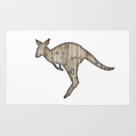 wooden kangaroo Area & Throw Rug