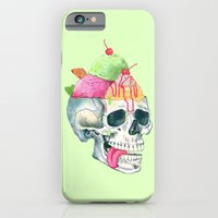 iPhone Cases featuring brain freeze by Laura Graves