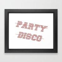 Talking Heads - No Party, No Disco Framed Art Print