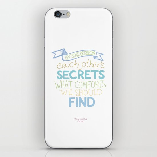 Each other's secrets iPhone & iPod Skin