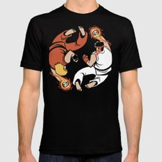 Super Yin Yang SMALL Mens Fitted Tee Black