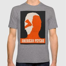 American Psycho Mens Fitted Tee Tri-Grey SMALL