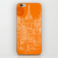 Paris! Orange Sun iPhone & iPod Skin