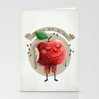 apple Stationery Cards featuring Apple by Lime