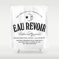 Eau Revoir Shower Curtain