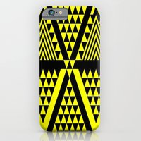 iPhone & iPod Case featuring Black & Yellow by Sacred Symmetry