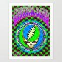 Grateful Dead #9 Optical Illusion Psychedelic Design Art Print