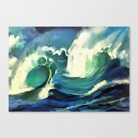 Going With The Flow Ocea… Canvas Print