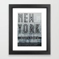 Metropolis New York Framed Art Print