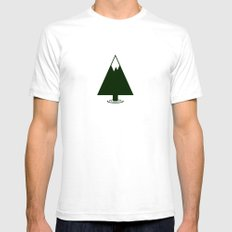 Pine Mountain Lake SMALL Mens Fitted Tee White