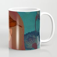lady with bird Mug