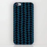 Blue Arrows iPhone & iPod Skin