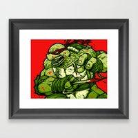 Raph's Last Stand Framed Art Print