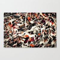 Pollock had a wife. I dunno, did he? Canvas Print