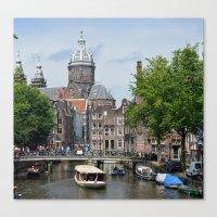 Sunny Amsterdam Canvas Print