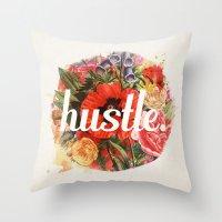 Hustle. Throw Pillow