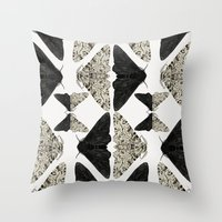 Peppered Moth Throw Pillow