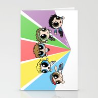 Powerpuff!Direction Stationery Cards