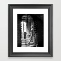 Marilyn Monroe+Wolf Framed Art Print