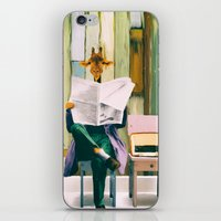 Giraffe reads the paper... iPhone & iPod Skin